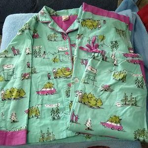 Cute munki munki Christmas trees pajamas, sz XL